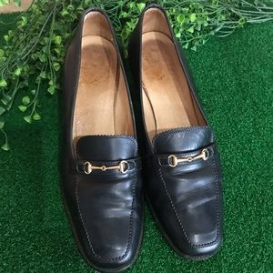 Gucci Navy Leather Loafer Sz 35.5B